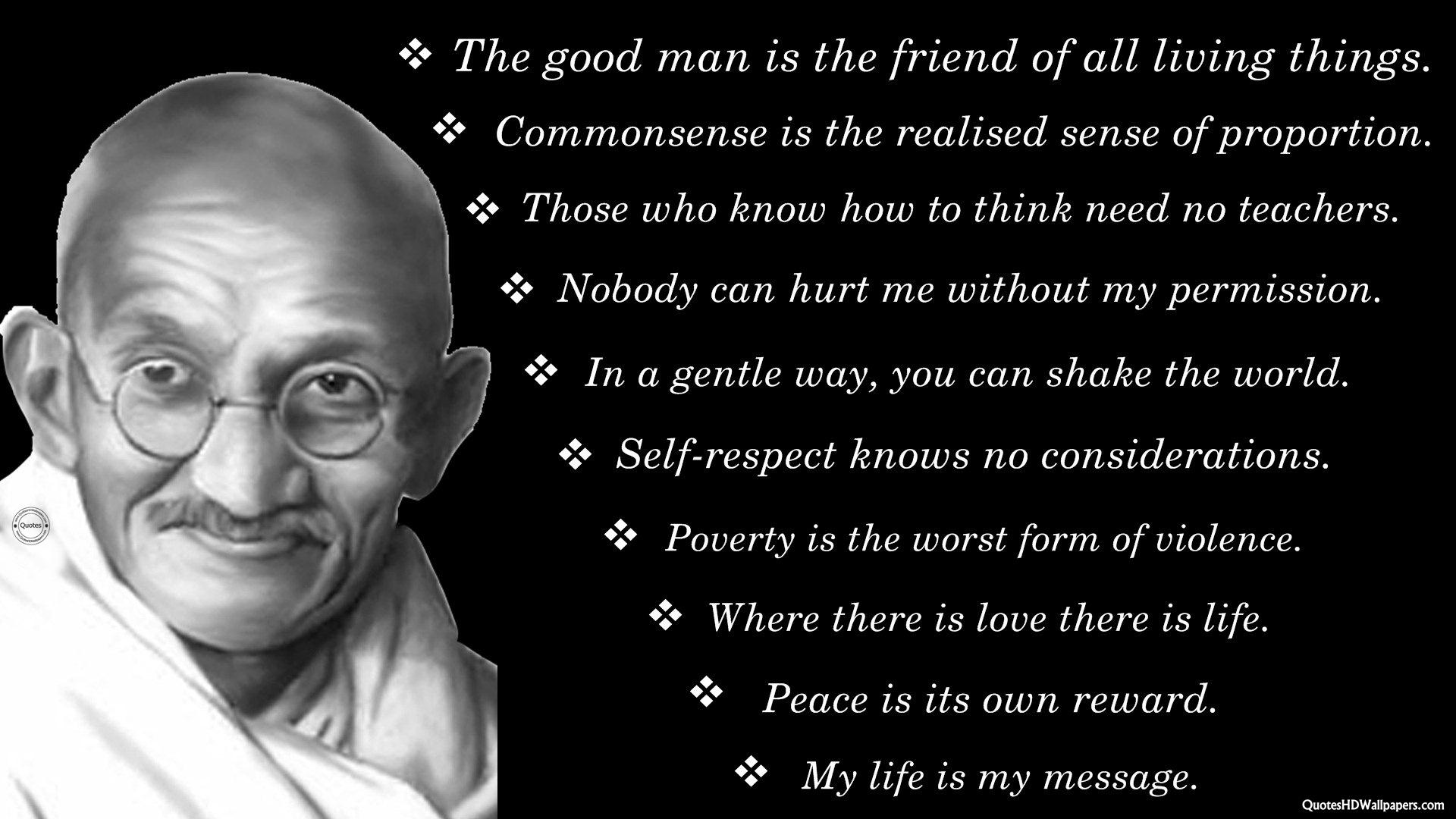Gandhi quote #1