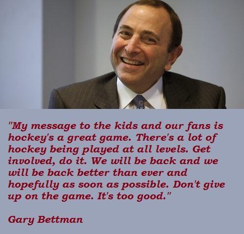 Gary Bettman's quote #2