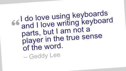 Geddy Lee's quote #6