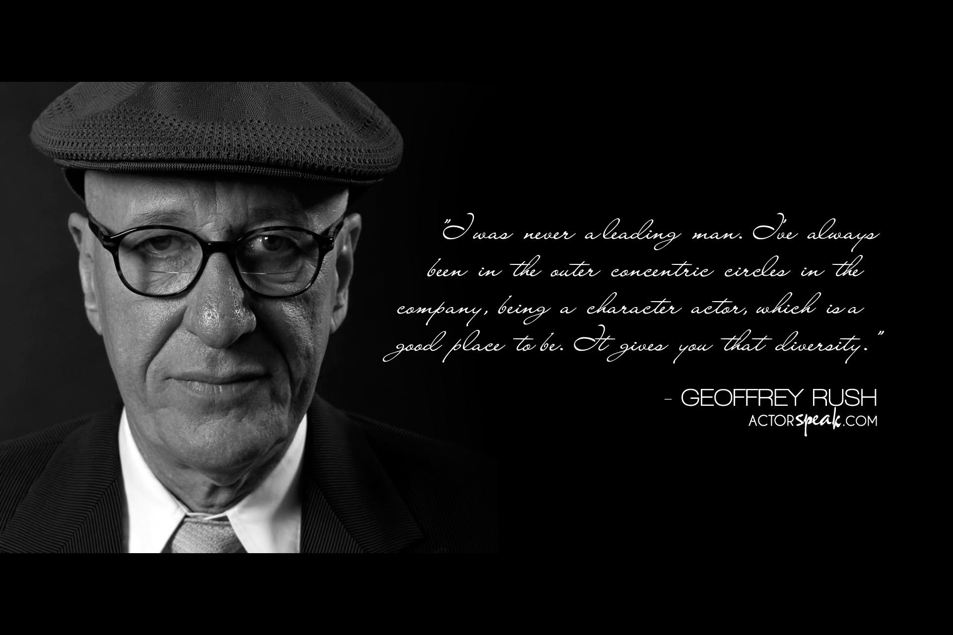 Geoffrey Rush's quote #1