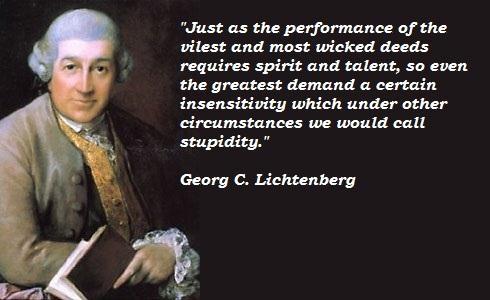 Georg C. Lichtenberg's quote #7