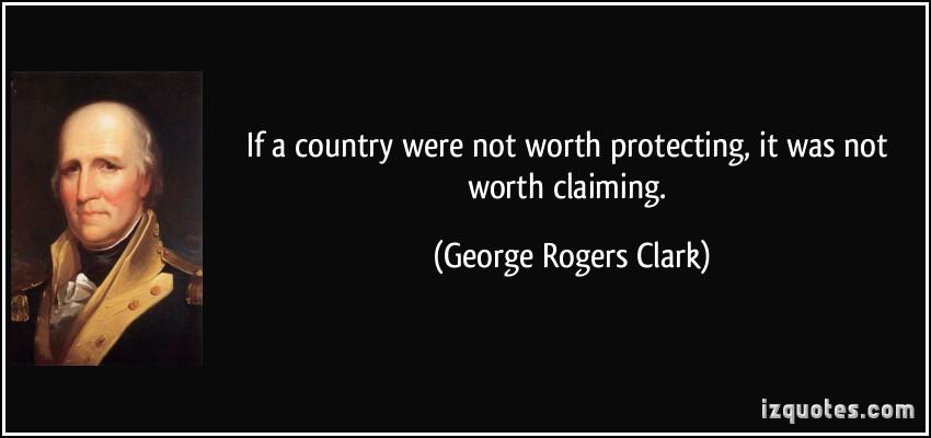 George Rogers Clark's quote
