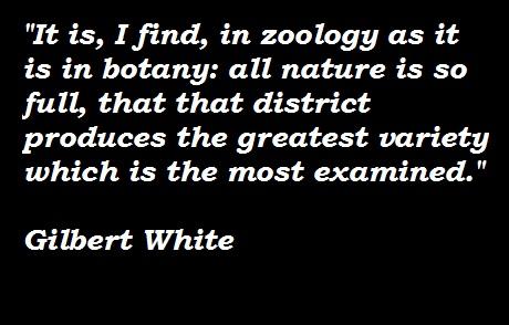 Gilbert White's quote #2