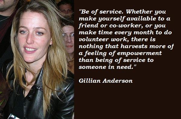 Gillian Anderson's quote #4