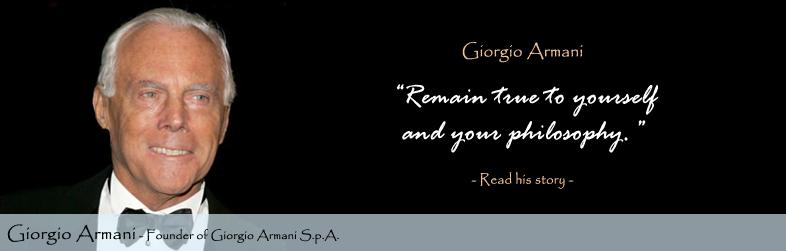 the entrepreneur giorgio armani Giorgio armani settles £222m tax dispute with italy fashion house giorgio armani has paid €270m the entrepreneur behind luxury leather firm tod's.