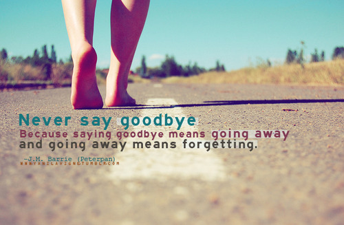 Going Away quote