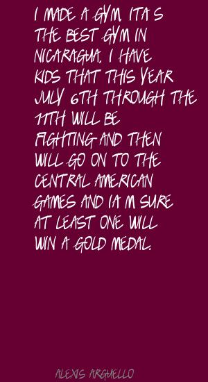 Gold Medal quote #2