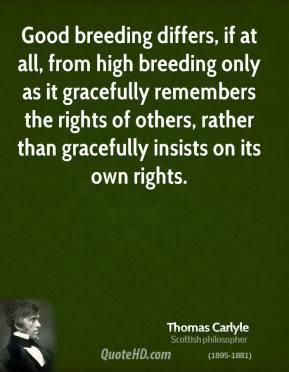 Good Breeding quote #2