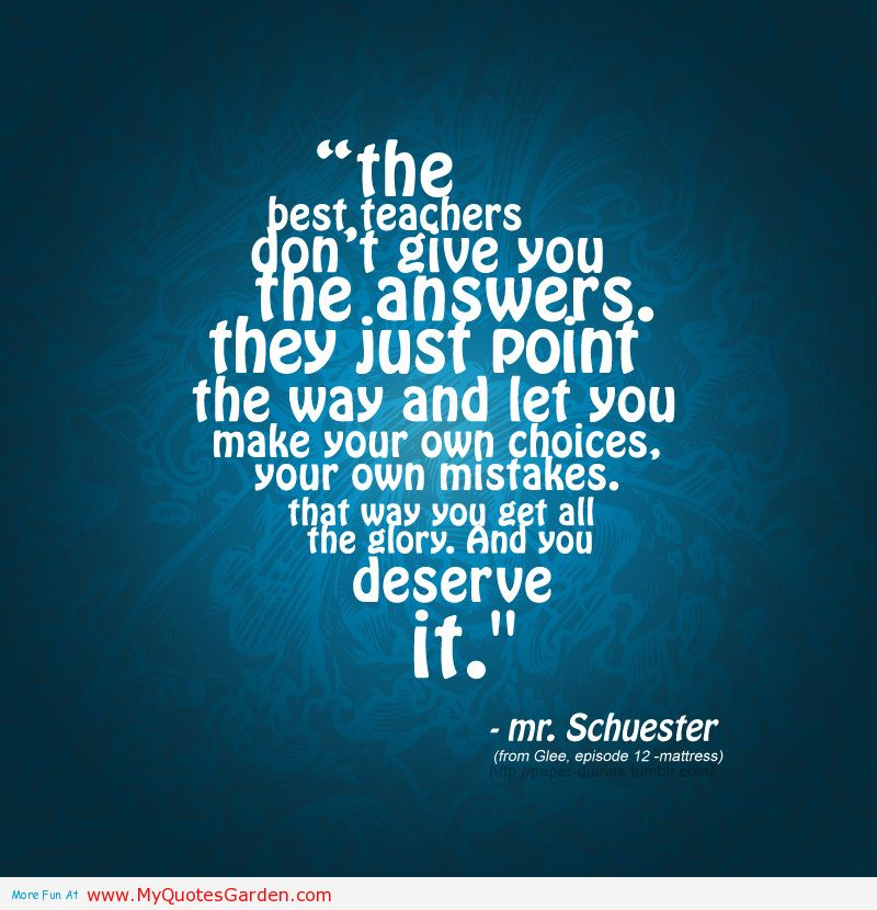 Good Teacher quote