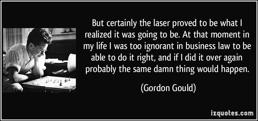 Gordon Gould's quote #1