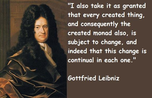 Gottfried Leibniz's quote #1