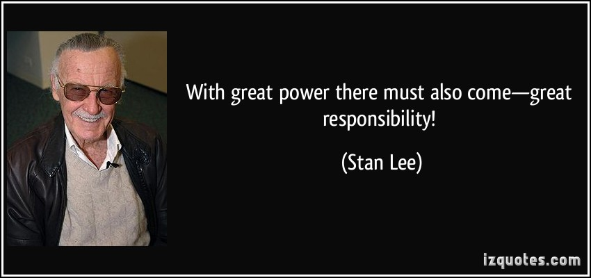 Famous quotes about 'Great Responsibility' - Sualci Quotes ...