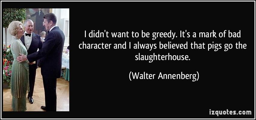 Greedy quote #3