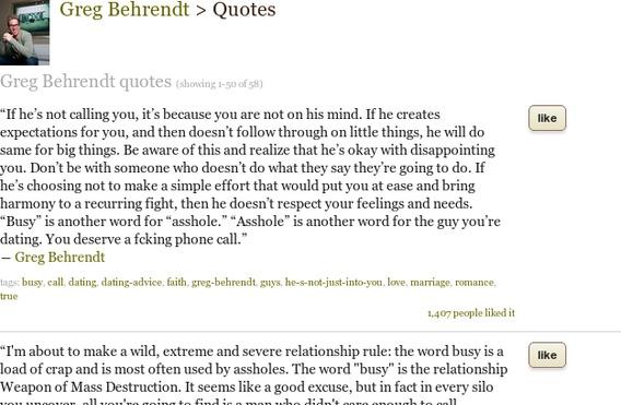 Greg Behrendt's quote #1