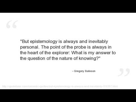 Gregory Bateson's quote #1