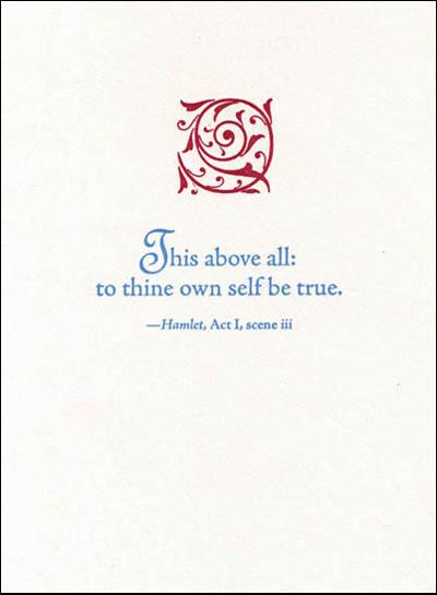 Hamlet quote #1