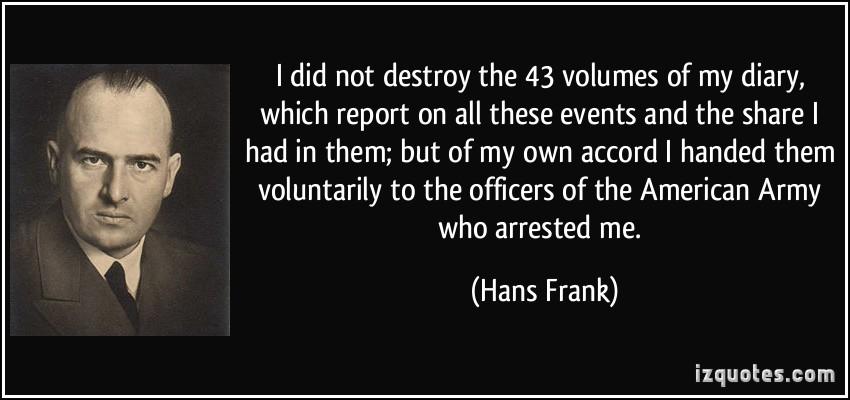 Hans Frank's quote #3