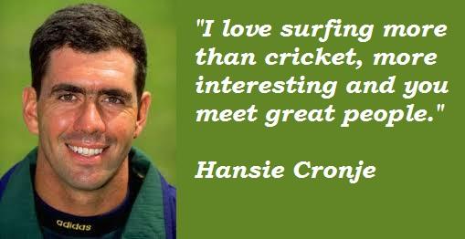 Hansie Cronje's quote #4
