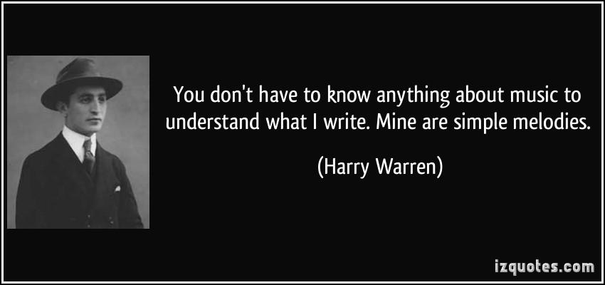 Harry Warren's quote #1