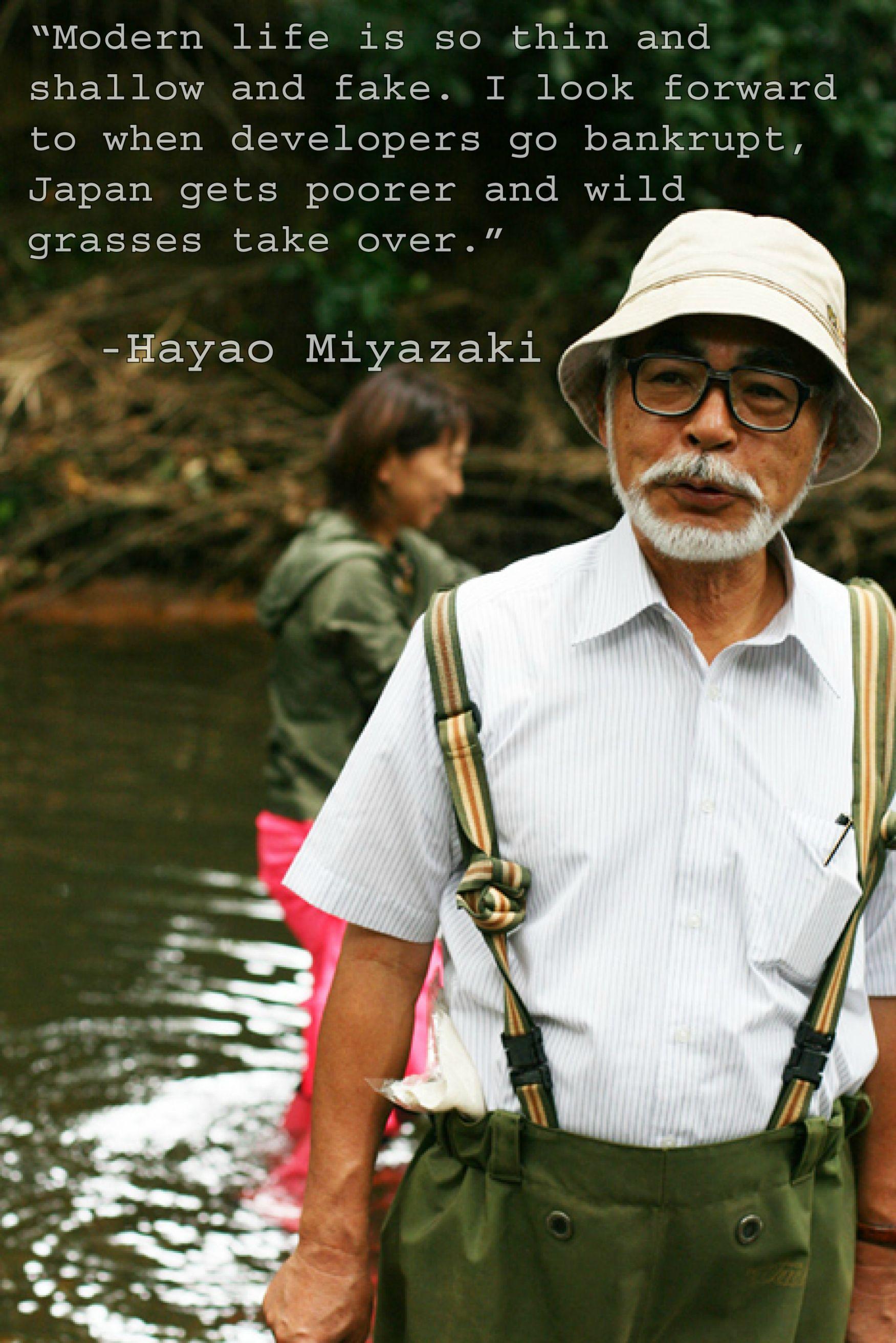 Hayao Miyazaki's quote #6
