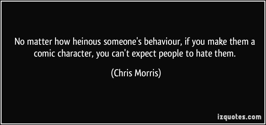 Heinous quote #1