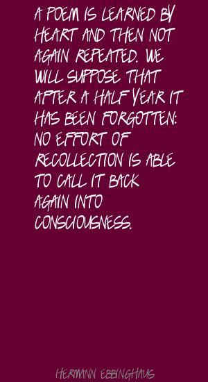 Hermann Ebbinghaus's quote #3