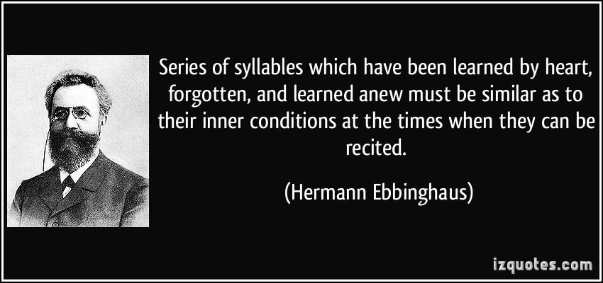 Hermann Ebbinghaus's quote #4