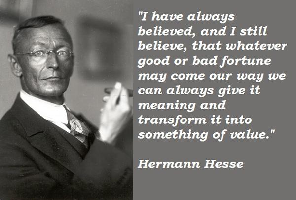 Hermann Hesse's quote #1