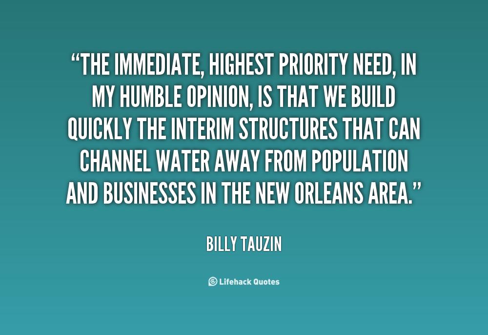 Highest Priority quote #1