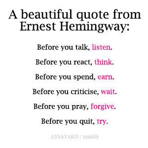 Honest quote #6