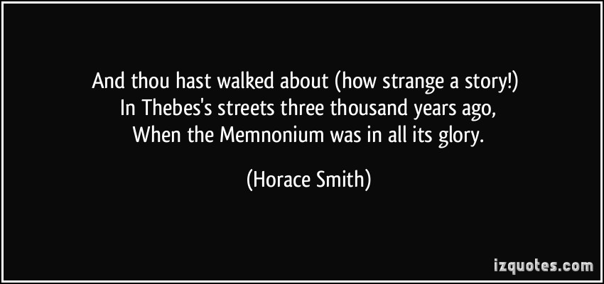 Horace Smith's quote #2