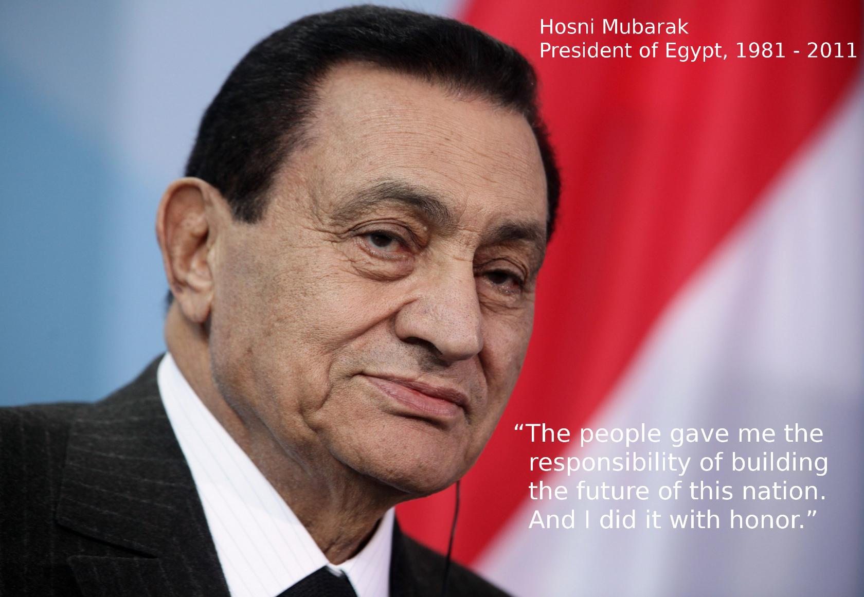 Hosni Mubarak's quote #3