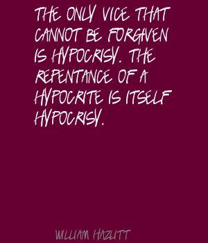 Hypocrisy quote #1