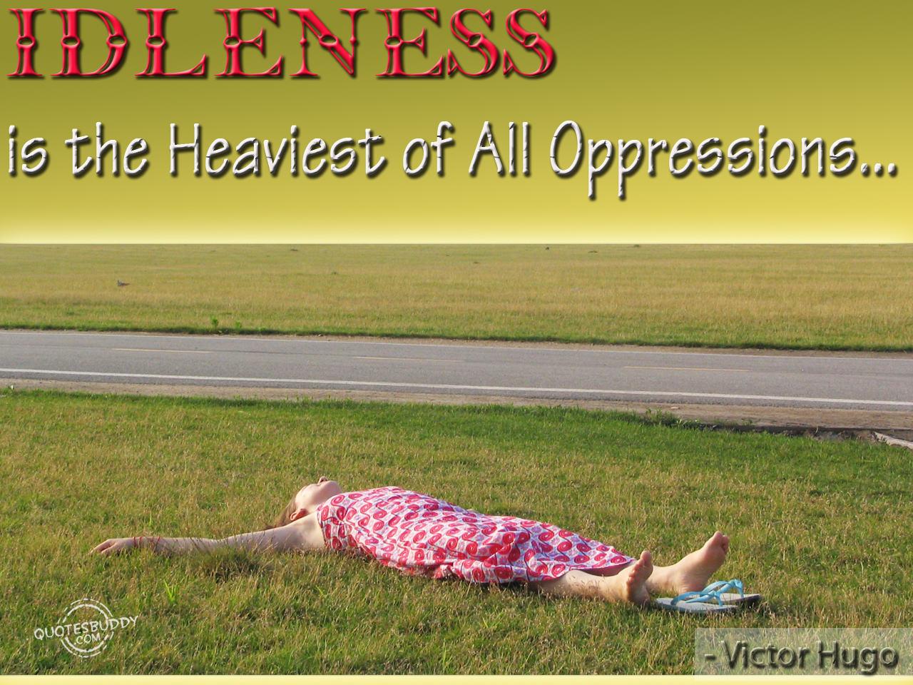 Idleness quote #1