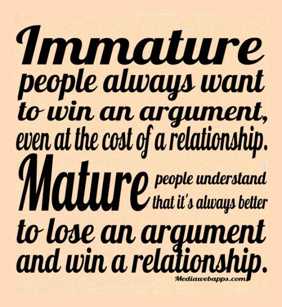 Immature quote #1