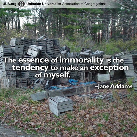 Immorality quote
