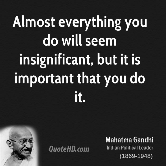 Insignificant quote