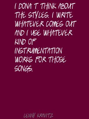 Instrumentation quote #1