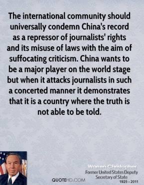 International Community quote #2