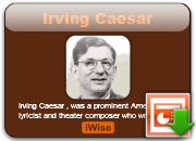 Irving Caesar's quote #6