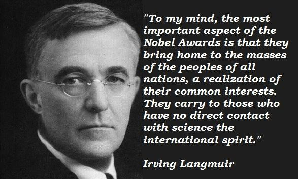 Irving Langmuir's quote #4