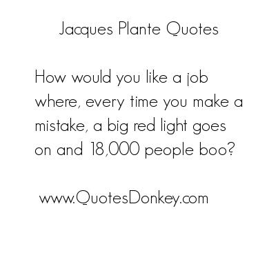 Jacques Plante's quote #1