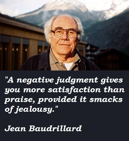 Jean Baudrillard's quote #2