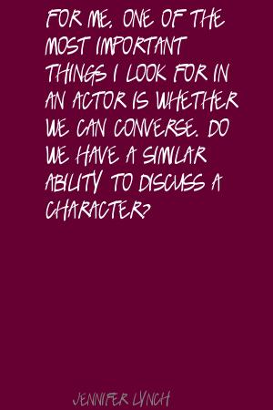 Jennifer Lynch's quote #6