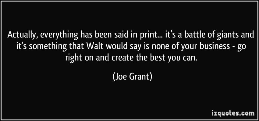 Joe Grant's quote #4