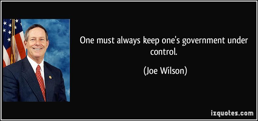 Joe Wilson's quote
