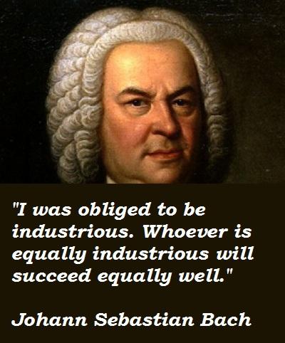 Johann Sebastian Bach's quote