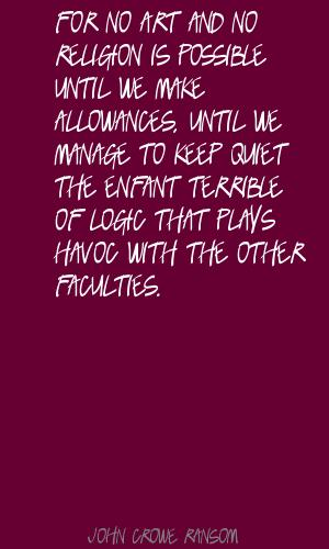 John Crowe Ransom's quote #4