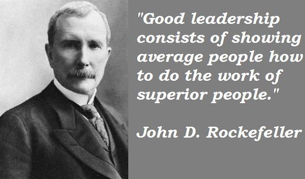 John D. Rockefeller's quote #3