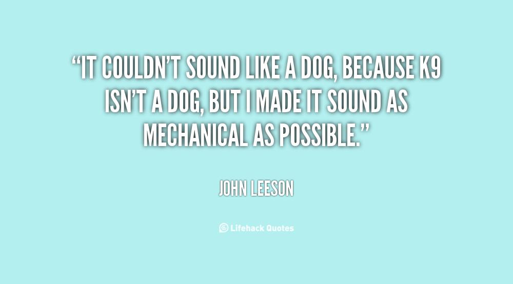 John Leeson's quote #1